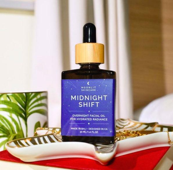 Moonlit Skincare Midnight Shift Overnight Facial Oil – $34