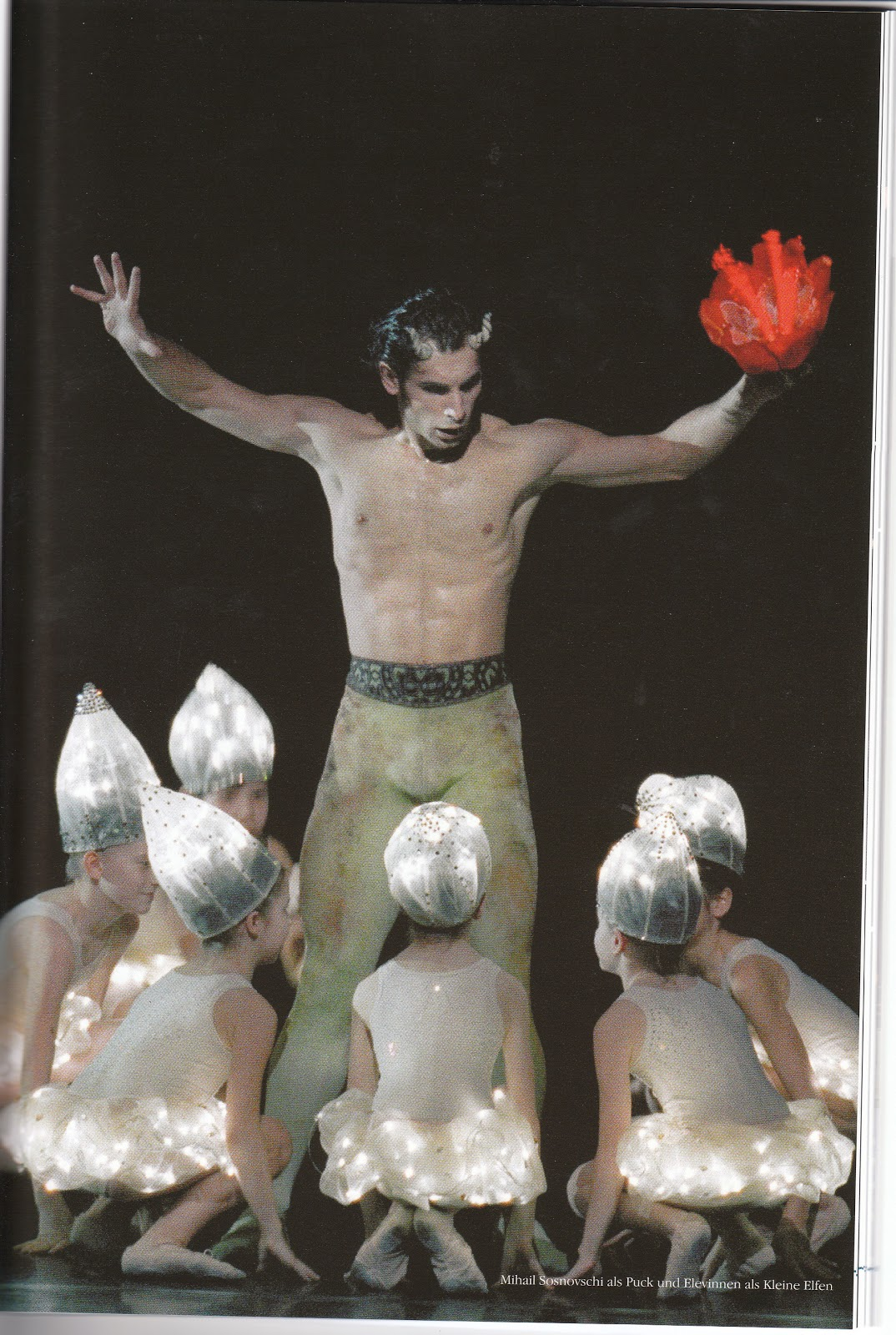 """(above Mihail Sosnovschi as """"Puck"""", pictures: """"Wiener Staatsballet"""" and Photograph of the programme)"""