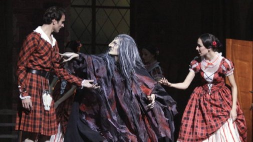"(above Andrey Kaydanovskiy as ""Madge"", 2011/12 Season, Copyright: Wiener Staatsballet)"