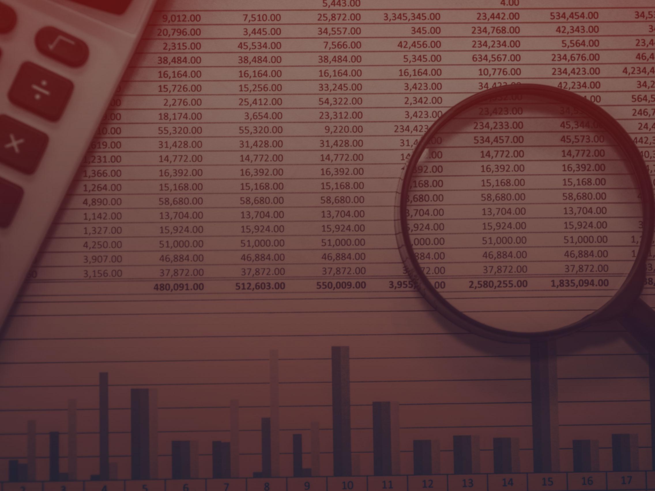 Tabelas e informativos para questões financeiras -