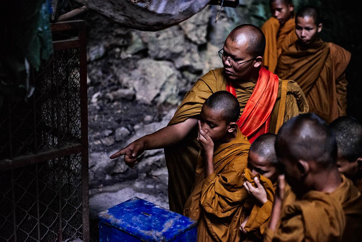 Astonished monk