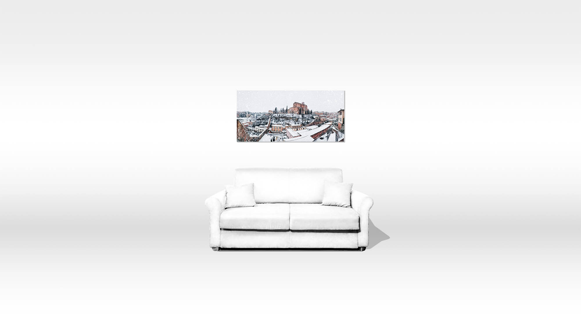 Size estimation based on a 190 cm sofa. Picture is 40 x 72 cm
