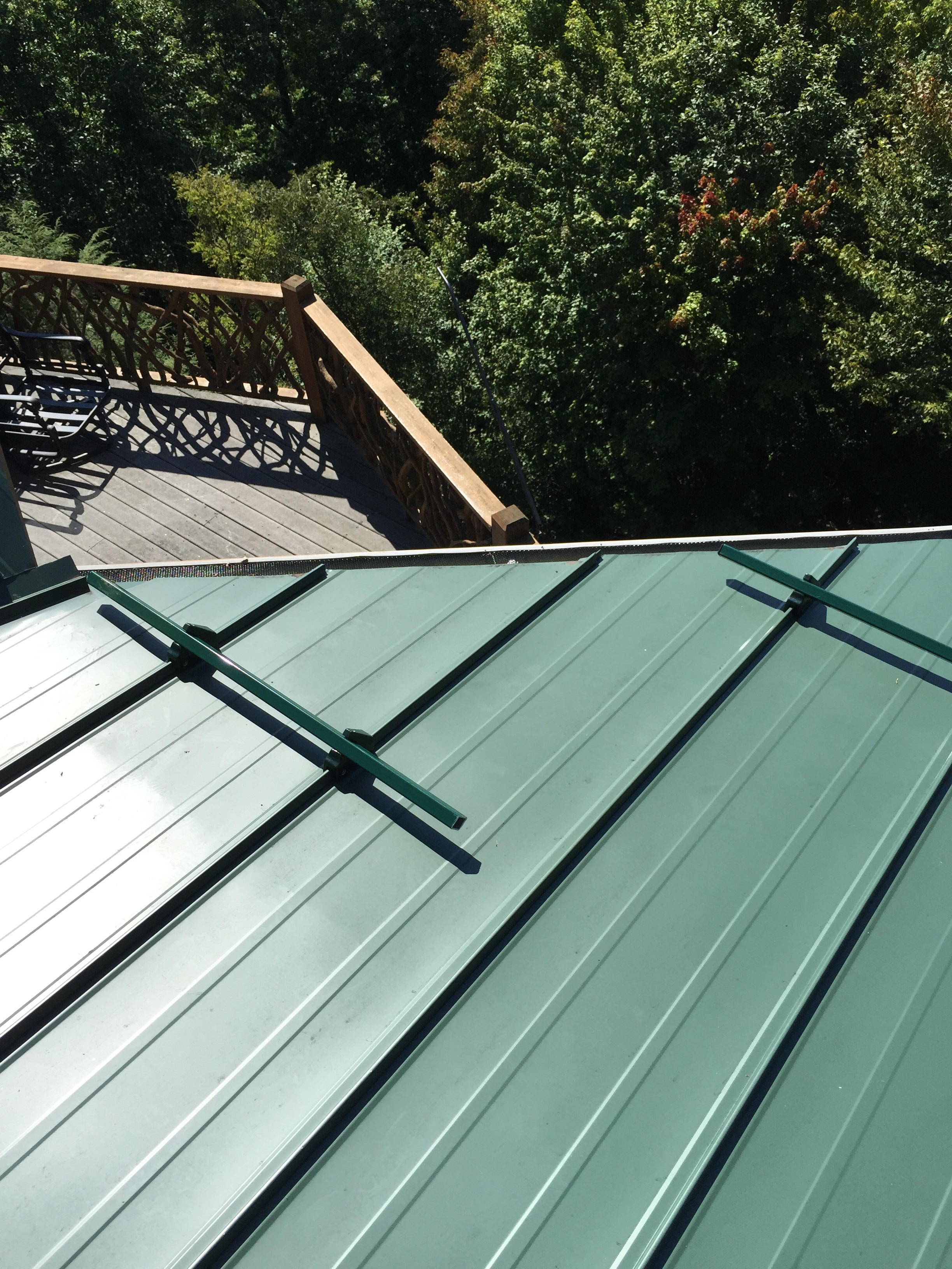 Snow Brakes on a Standing Seam Metal Roof