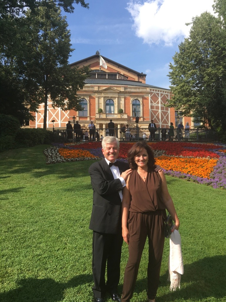 Dr Harry & Jacquie Brunjes at The Wagner festival in Bayreuth