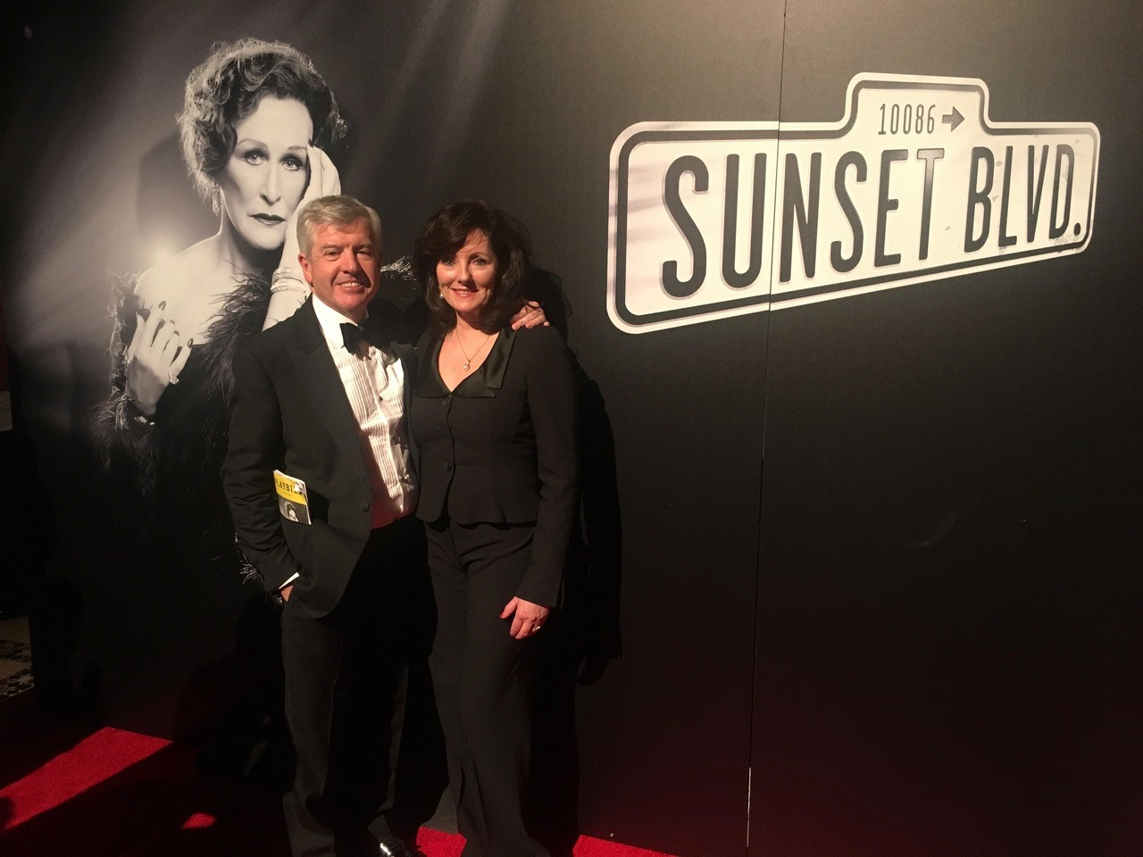 Dr Harry & Jacquie Brunjes at the after show of Sunset Boulevard on Broadway starring Glenn Close
