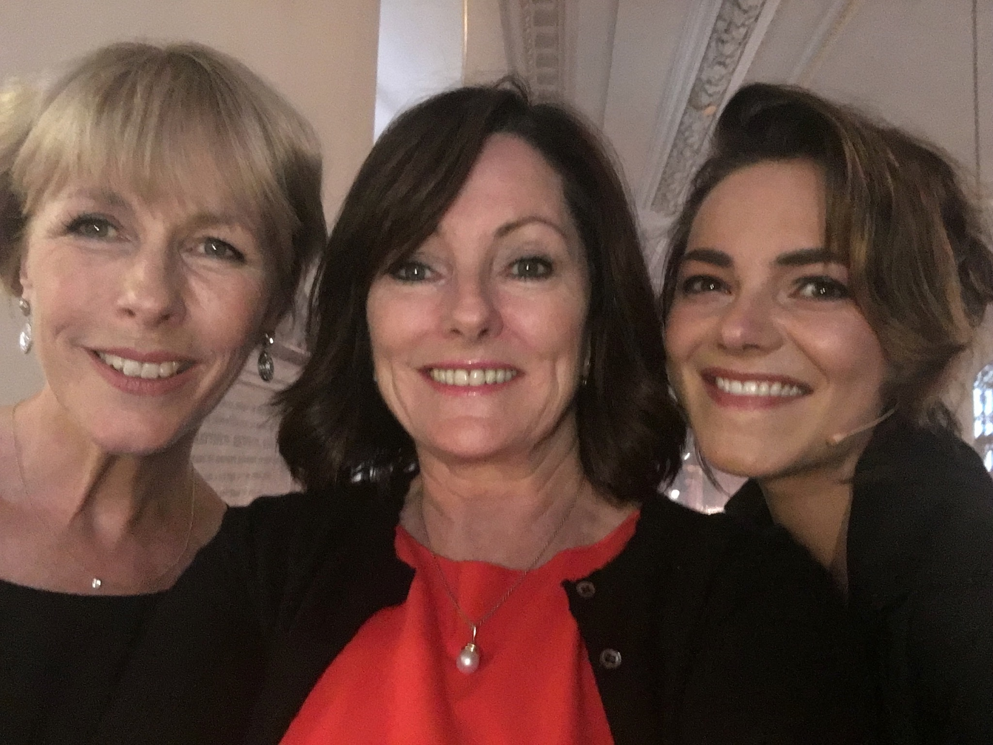 Jacquie Storey with Liz Robertson and Kara Thointon at My Fair Lady 60th celebrations in Covent Garden Summer 2016. Choreographed by yours truly!