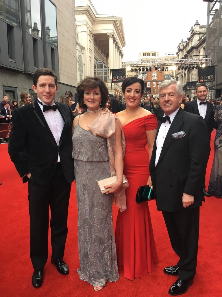 Proud Mum & Dad Dr Harry and Jacquie Brunjes on the red carpet at the Olivier Awards. Picture with our daughter Emma an Olivier nominee, and our son Ralph