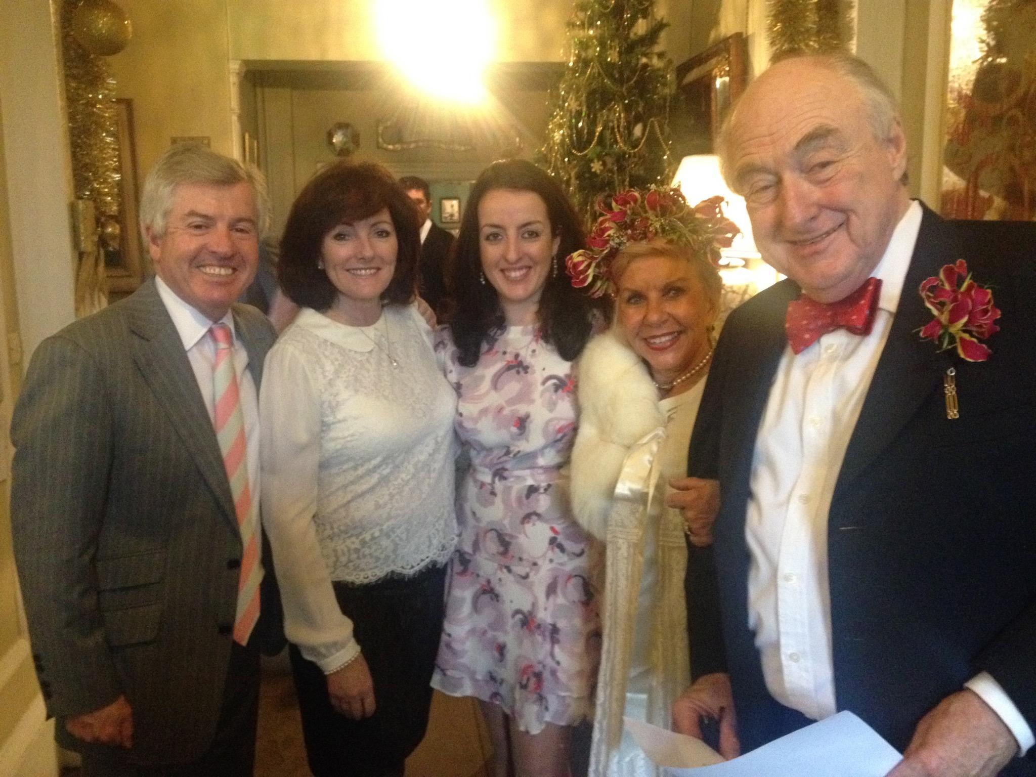 Dr Harry & Jacquie Brunjes at Henry and Valeria Blofeld's wedding with Emma Brunjes