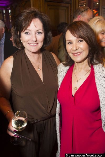 Jacquie Storey with Arlene Phillips at the opening of Sunset Boulevard