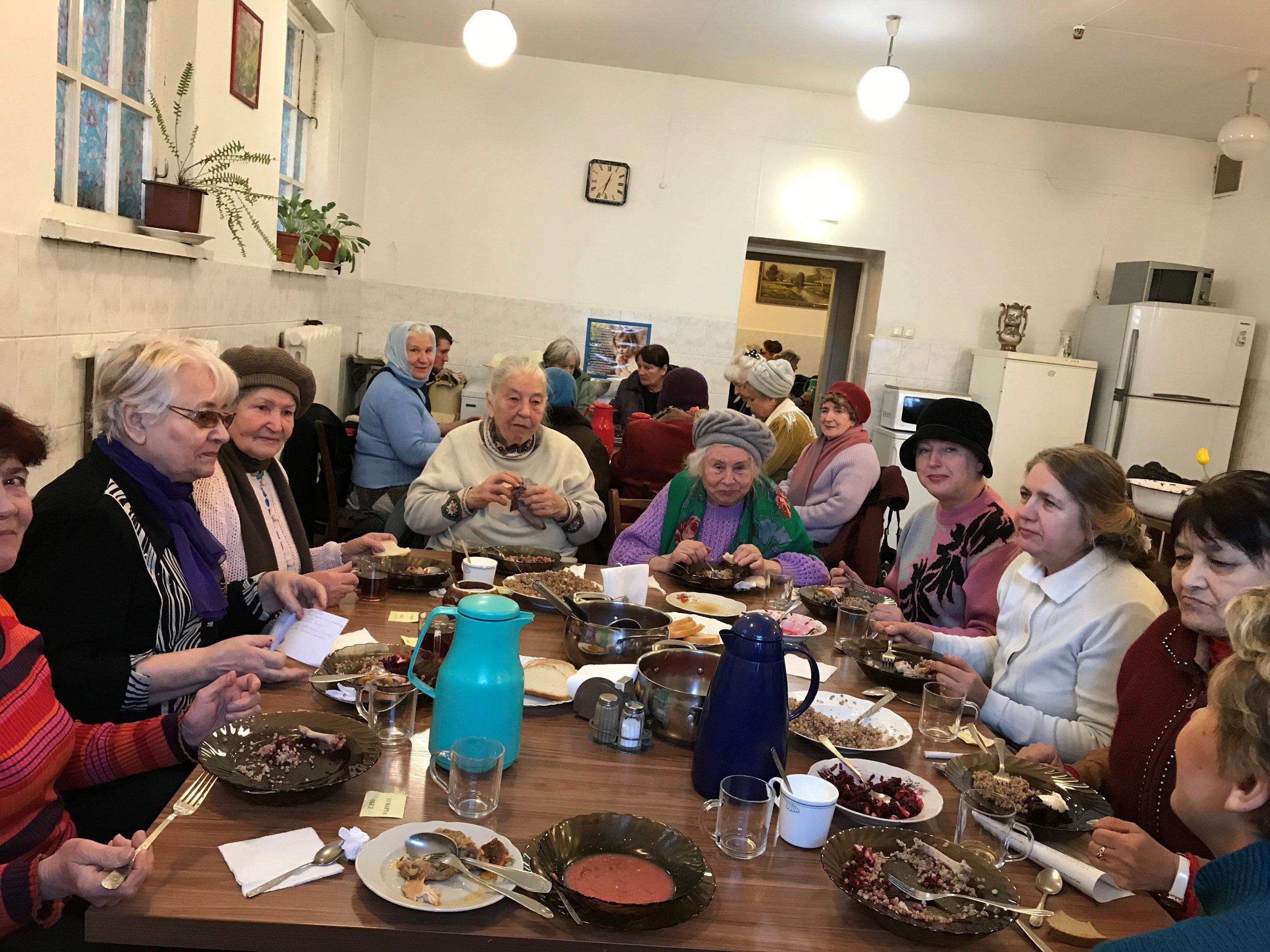 The Foundations of Faith class luncheon.