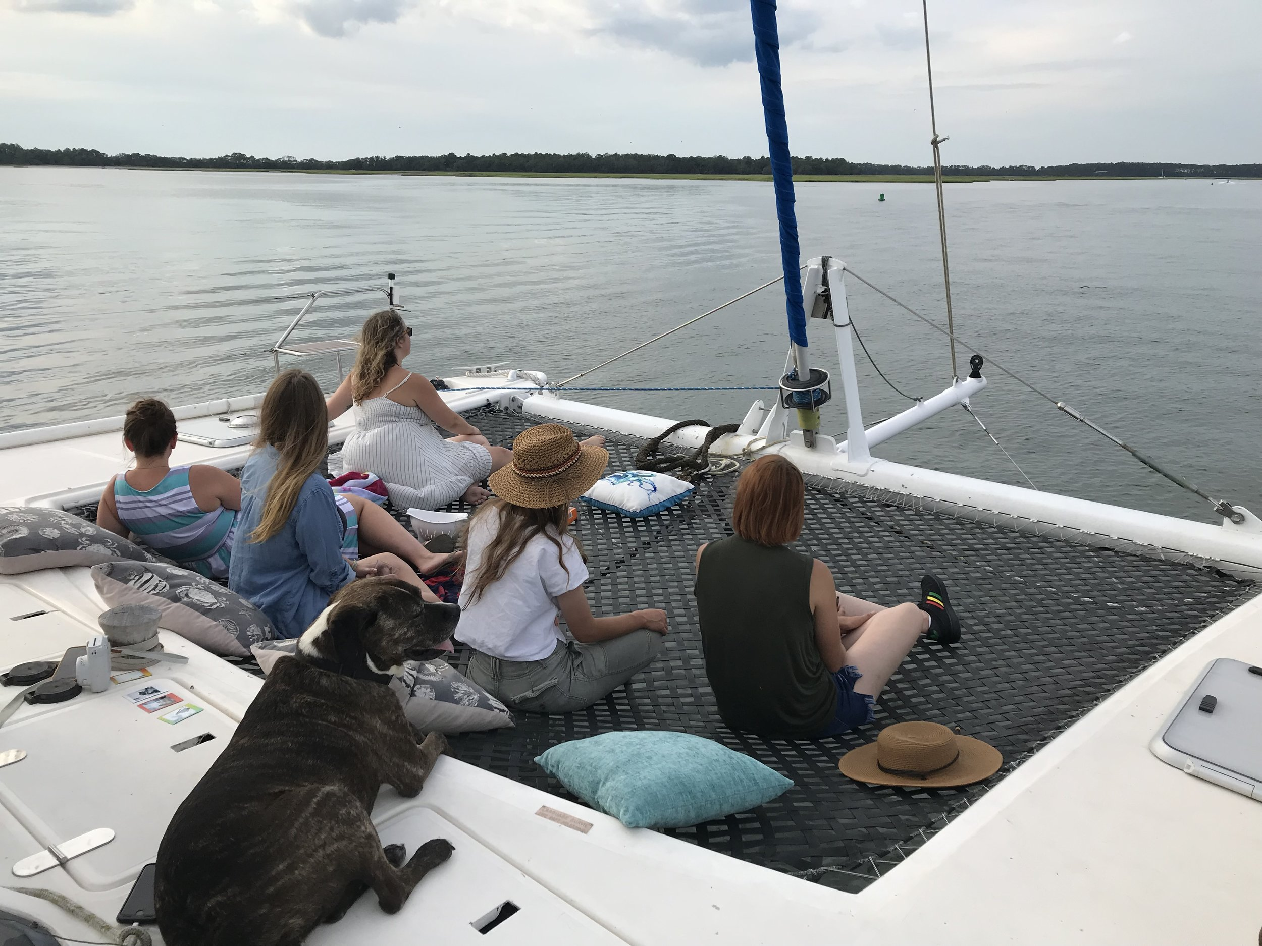 Girls day out on the water.
