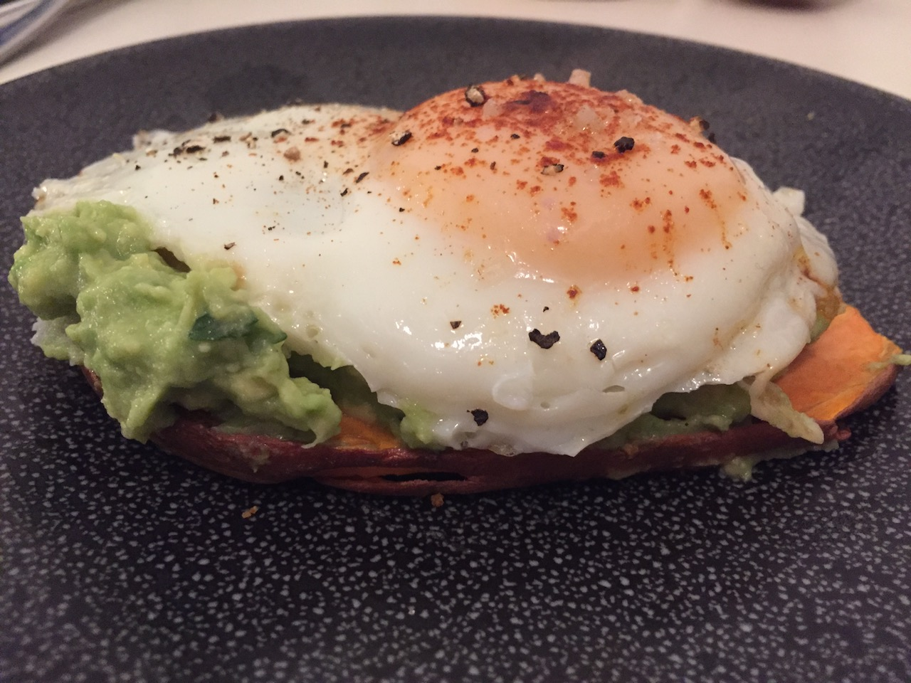 sweet potato toast with egg and guacamole.JPG