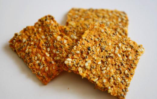 crackers, zanahoria, lino, carrot, flaxseed