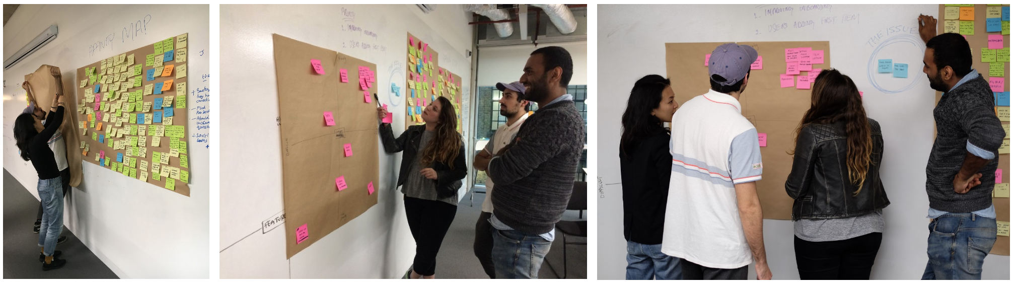 We then created a features prioritisation matrix to help us define our MVP.