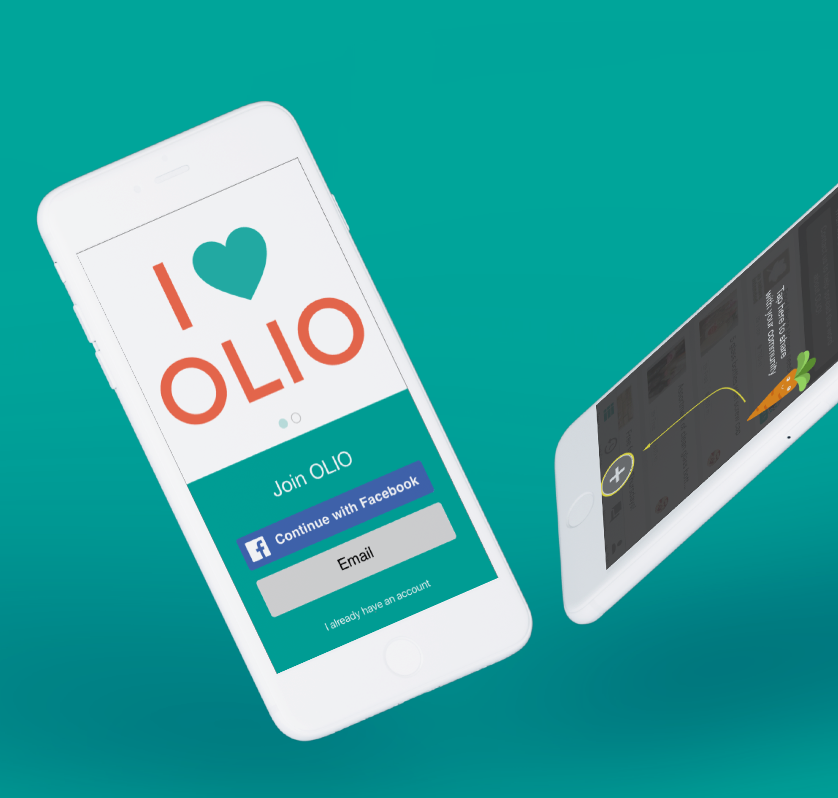 OLIO - The local sharing RevolutionNew onboarding and item listing experience encouraging people to start giving