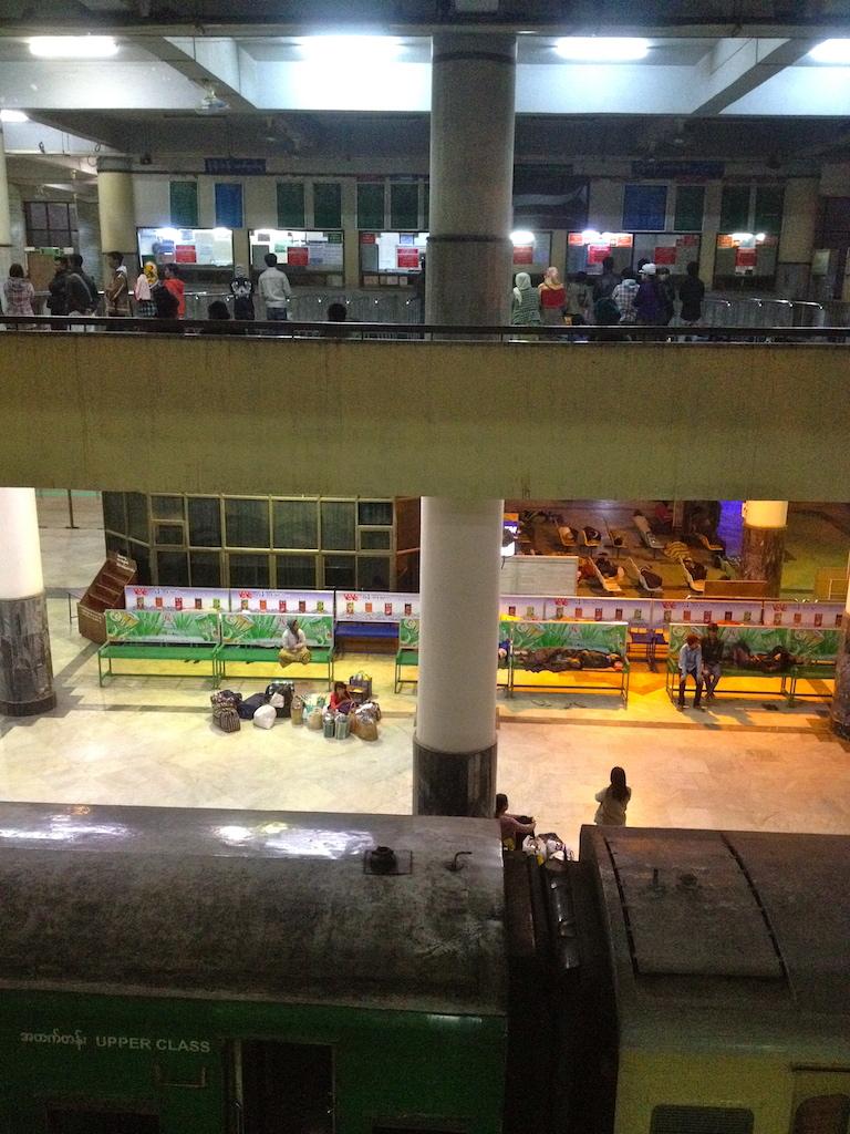 at the Mandalay train station