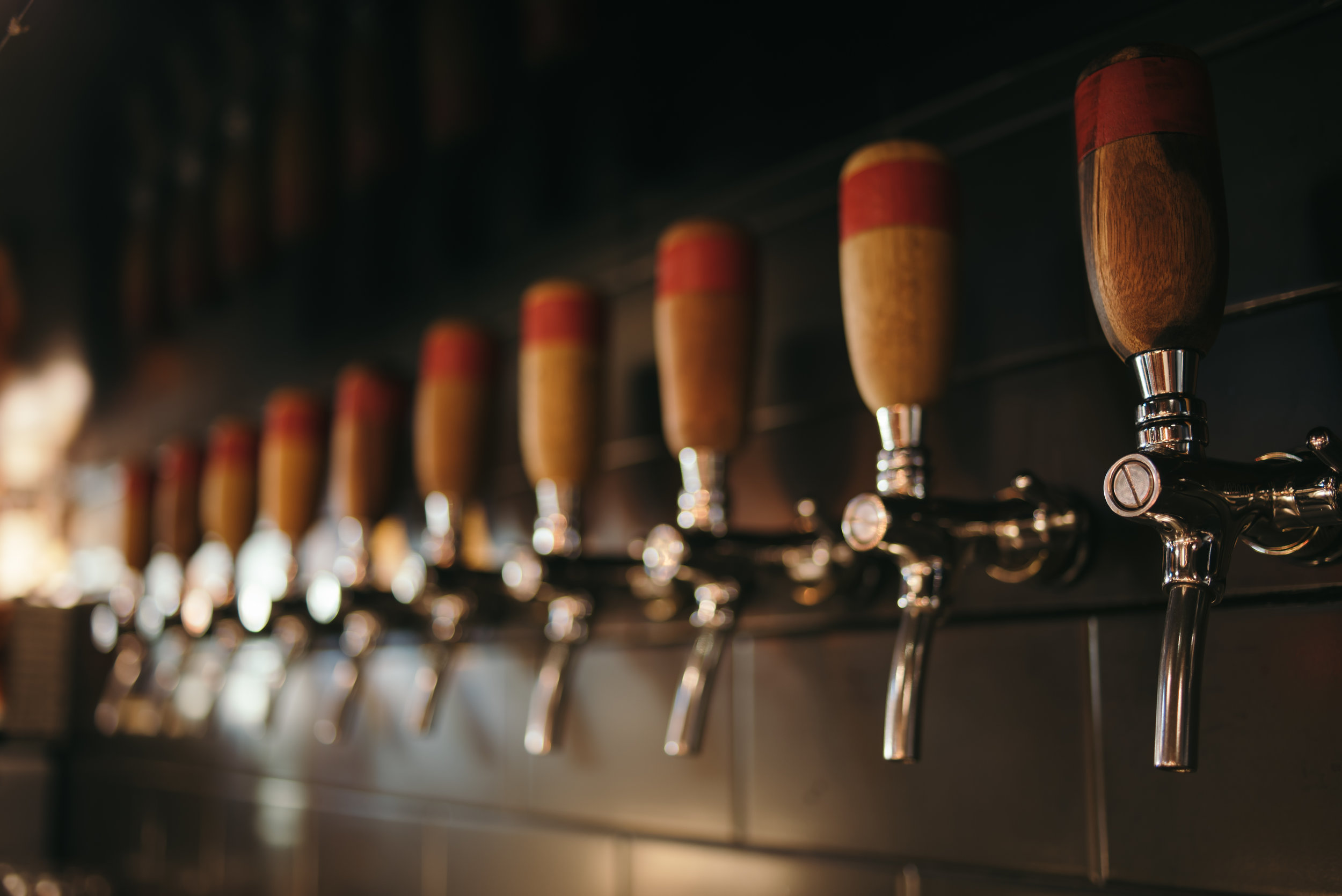 - The taps played a central part of the bar due to the restaurant's association with Young Master.