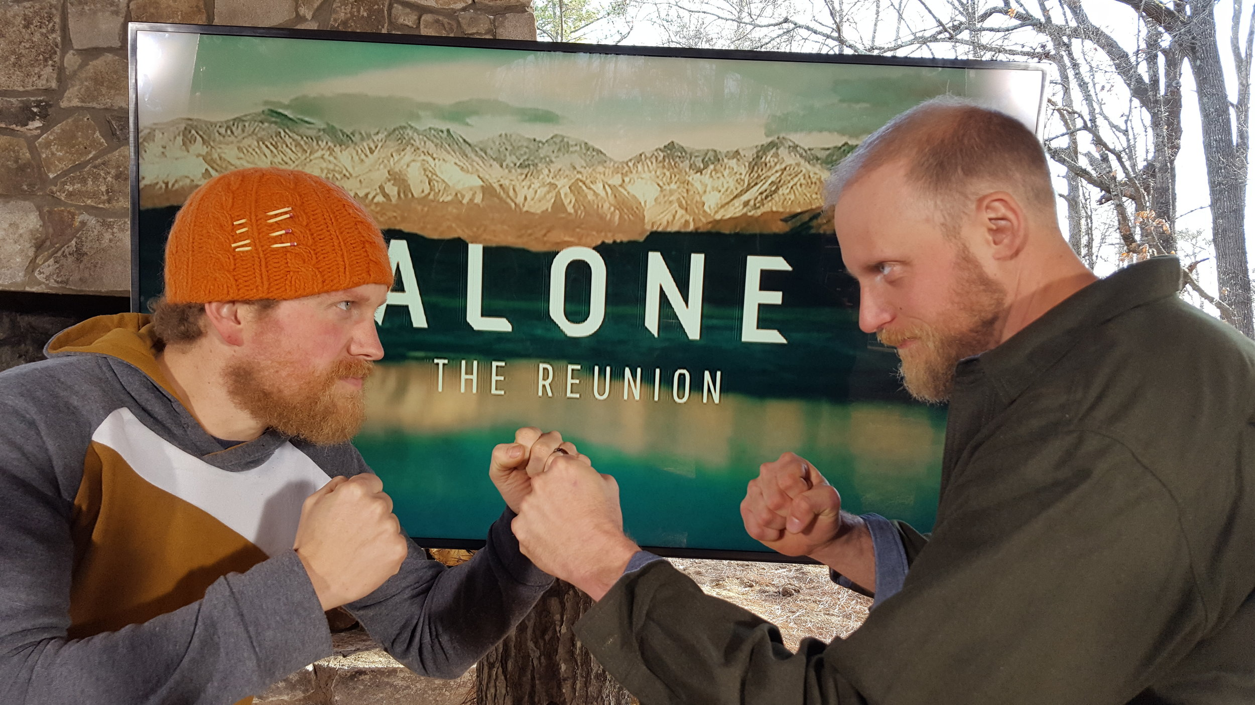 Dan and I having a bit of fun and squaring off the way they made it look on the show.