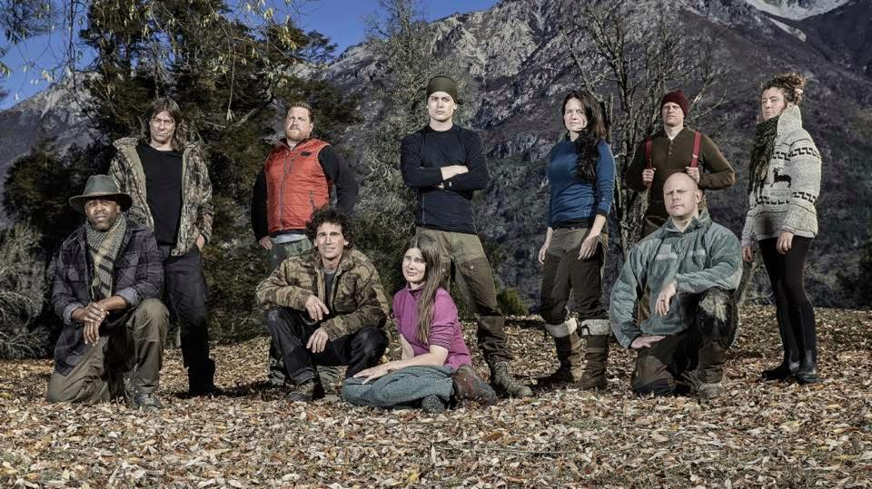The whole gange from Alone, Season 3. (History's promo picture taken in Patagonia)