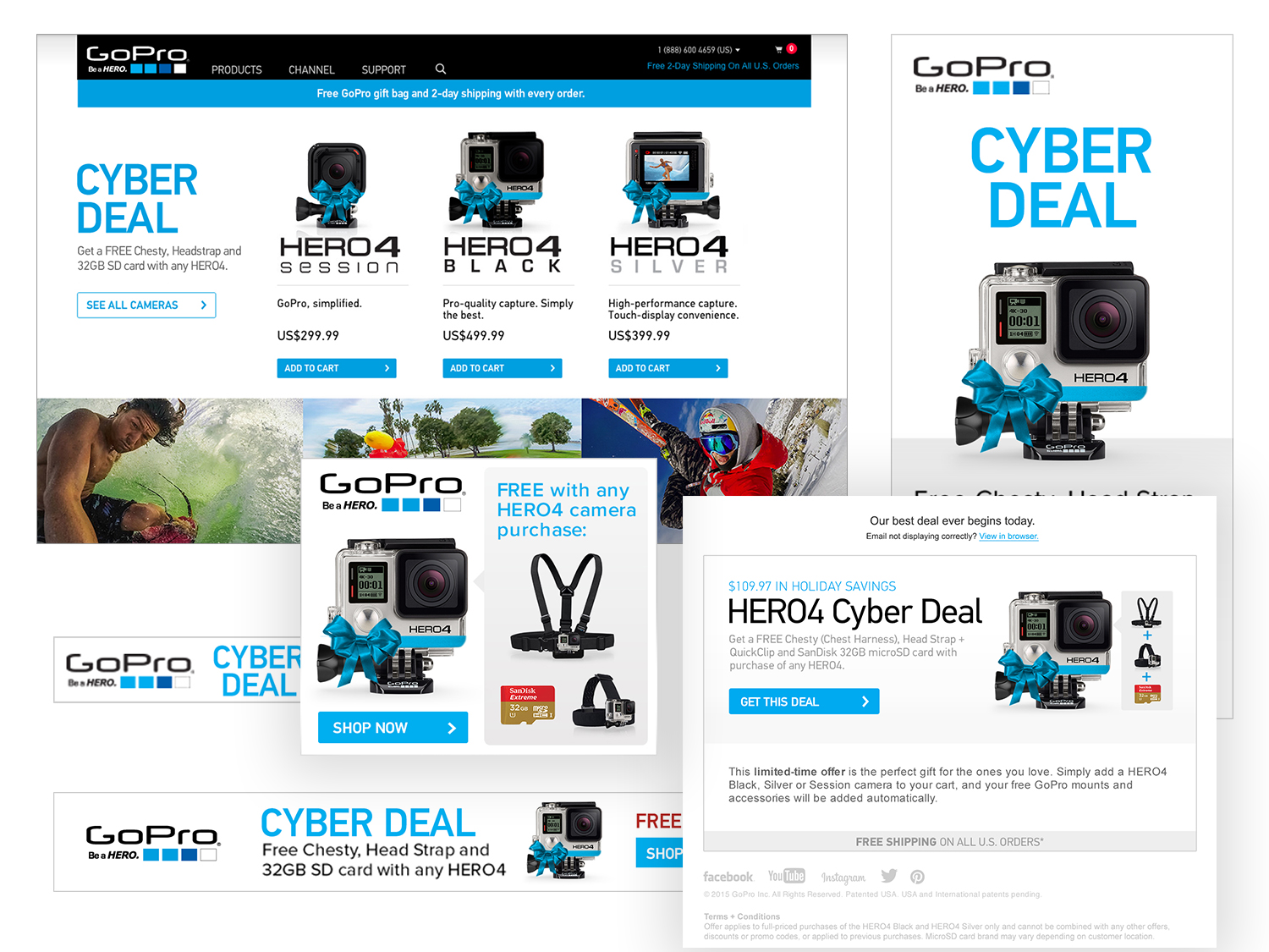 2015 Cyber Monday Email/Website/Ad