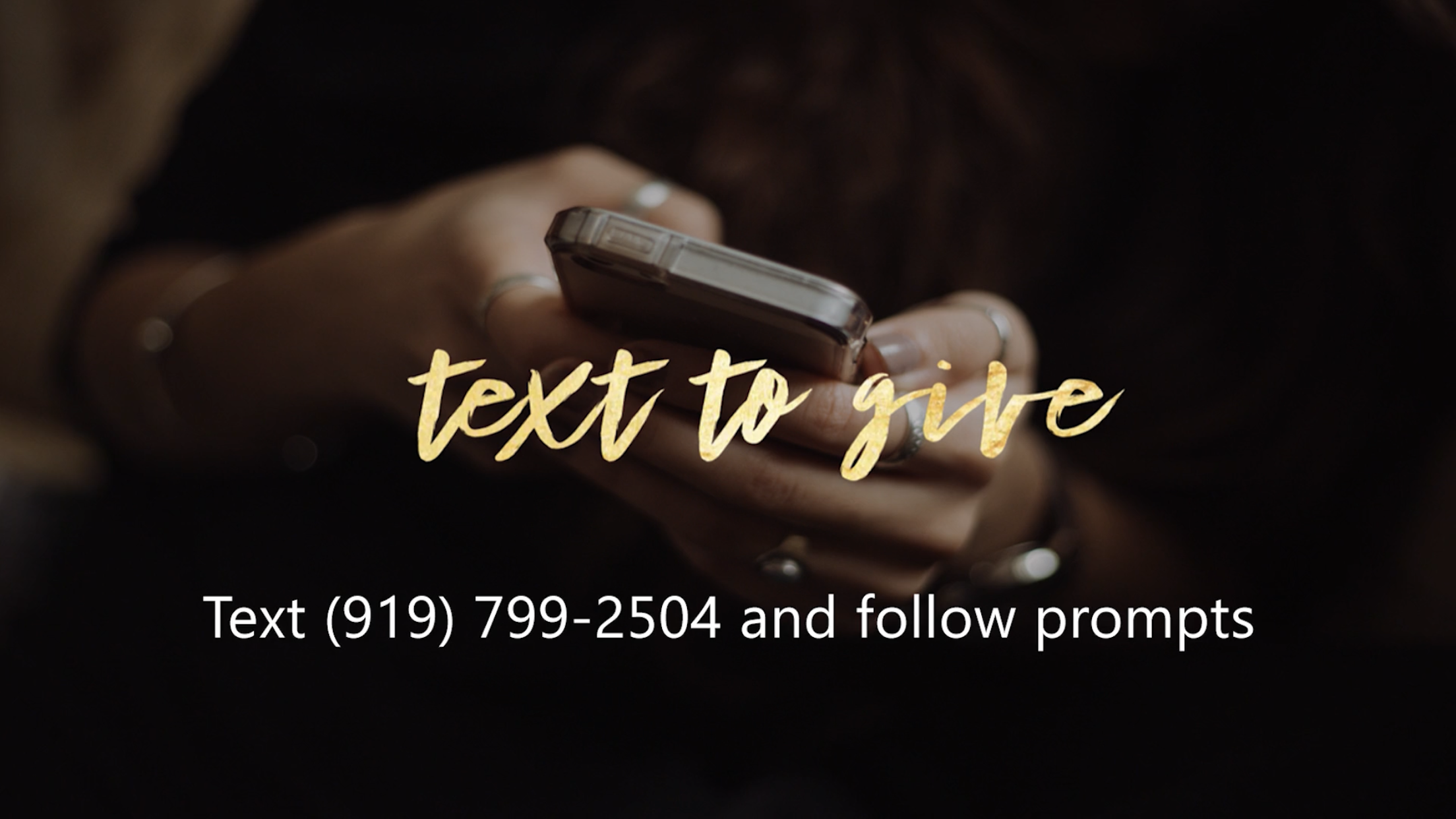 Text to Give -