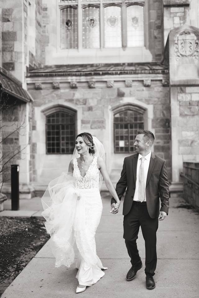 The U of M Law Quad never disappoints for photo backdrops and it helps when you have such an amazing couple!