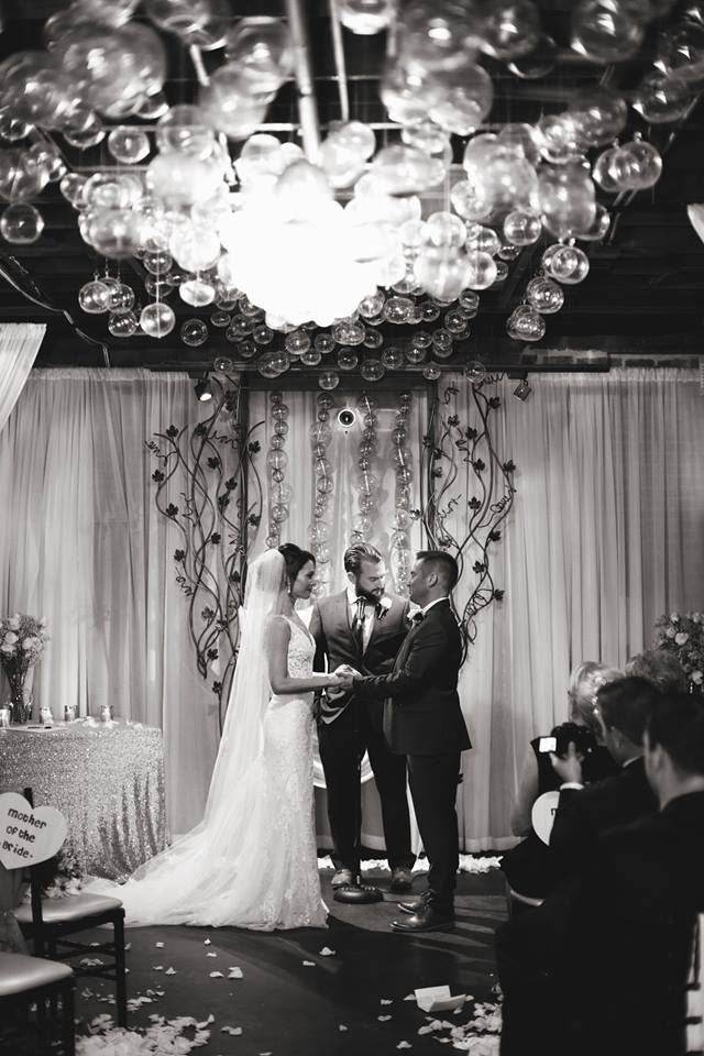 Their intimate wedding of 50 guests was officiated by Ian's younger brother, Richard. The couple wanted to be surrounded by those closest and dearest to them for their big day.