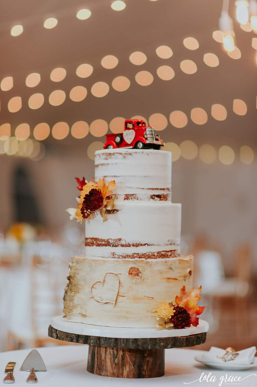 Their meaningful cake topper was modeled after Paul's grandfather's truck.