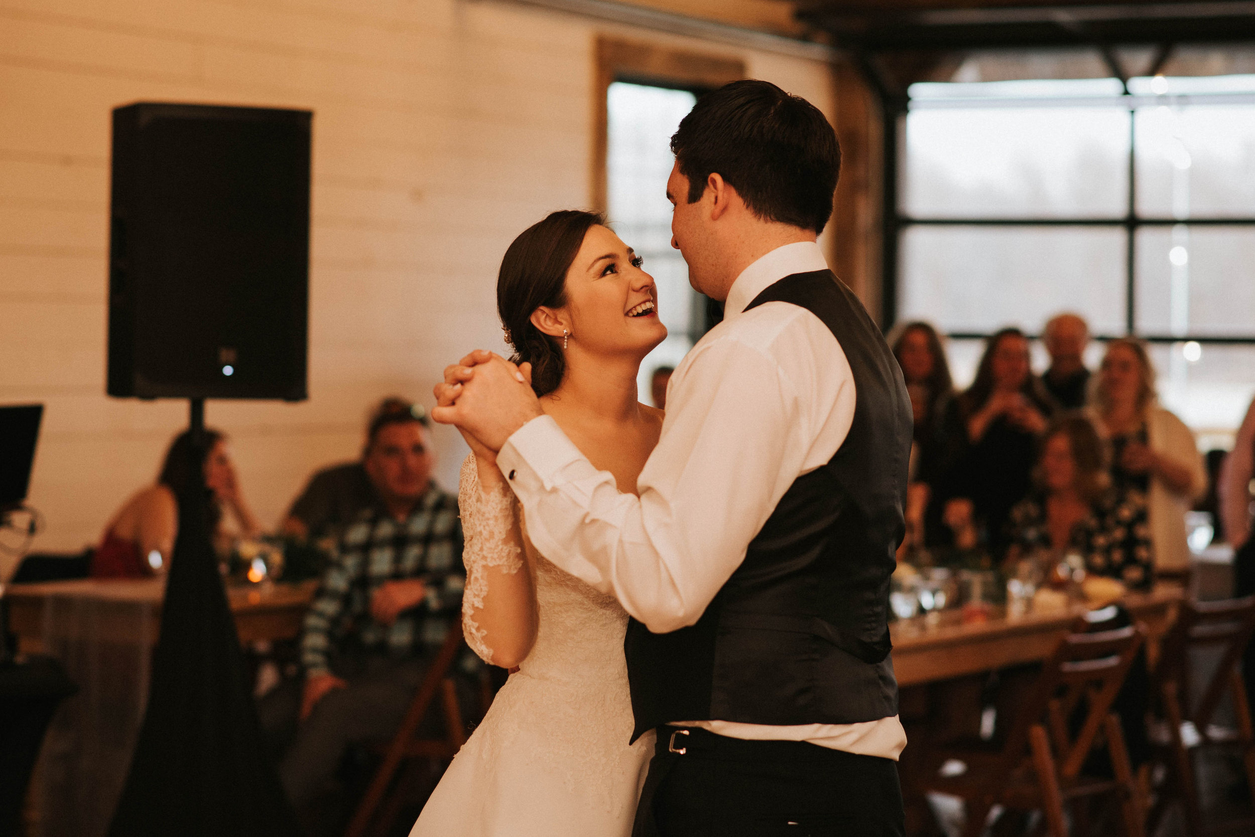 Kaitlin and Andrew share their first dance as a married couple.