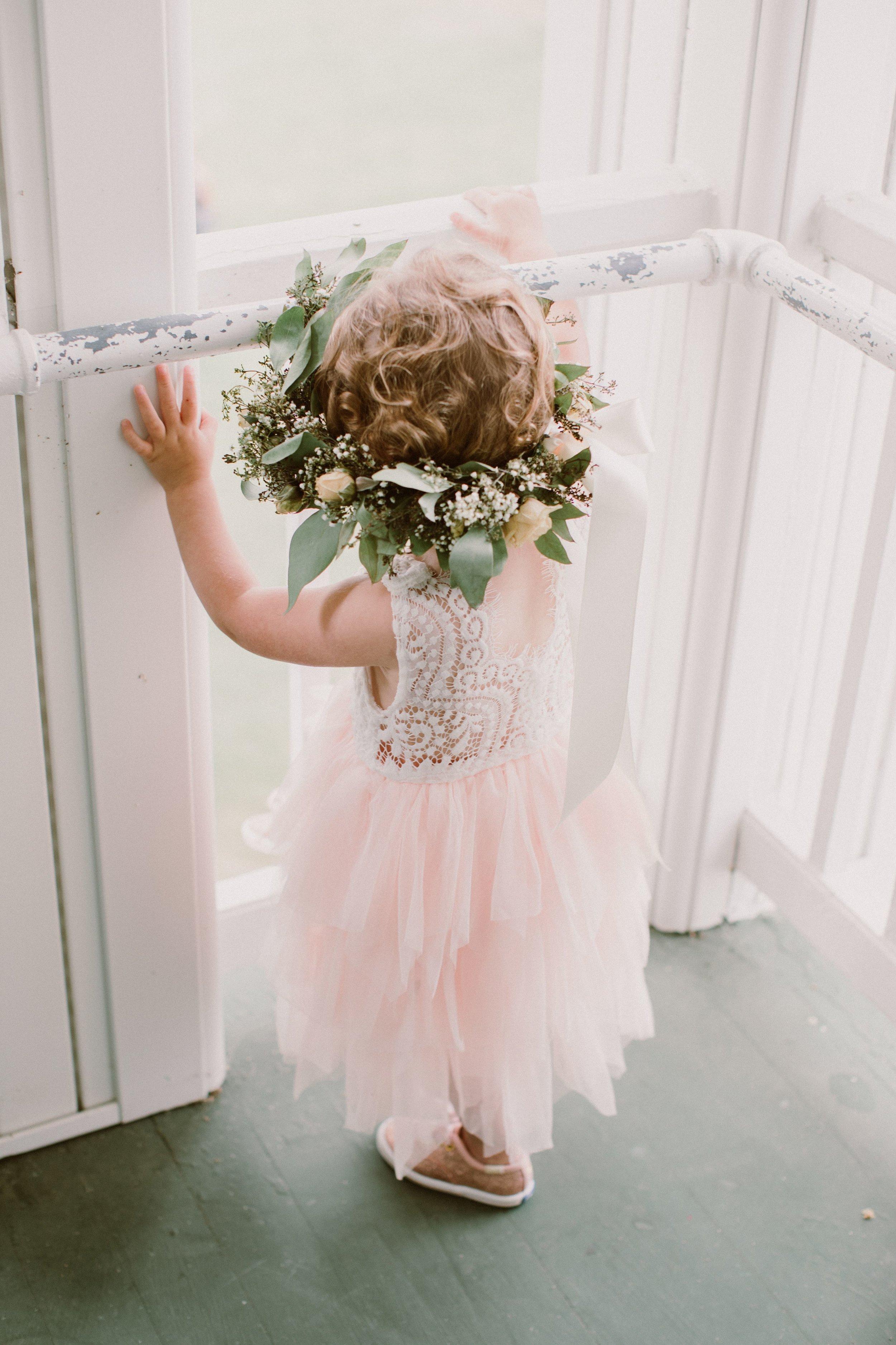 Amber's daughter, Quinn, was the flower girl!