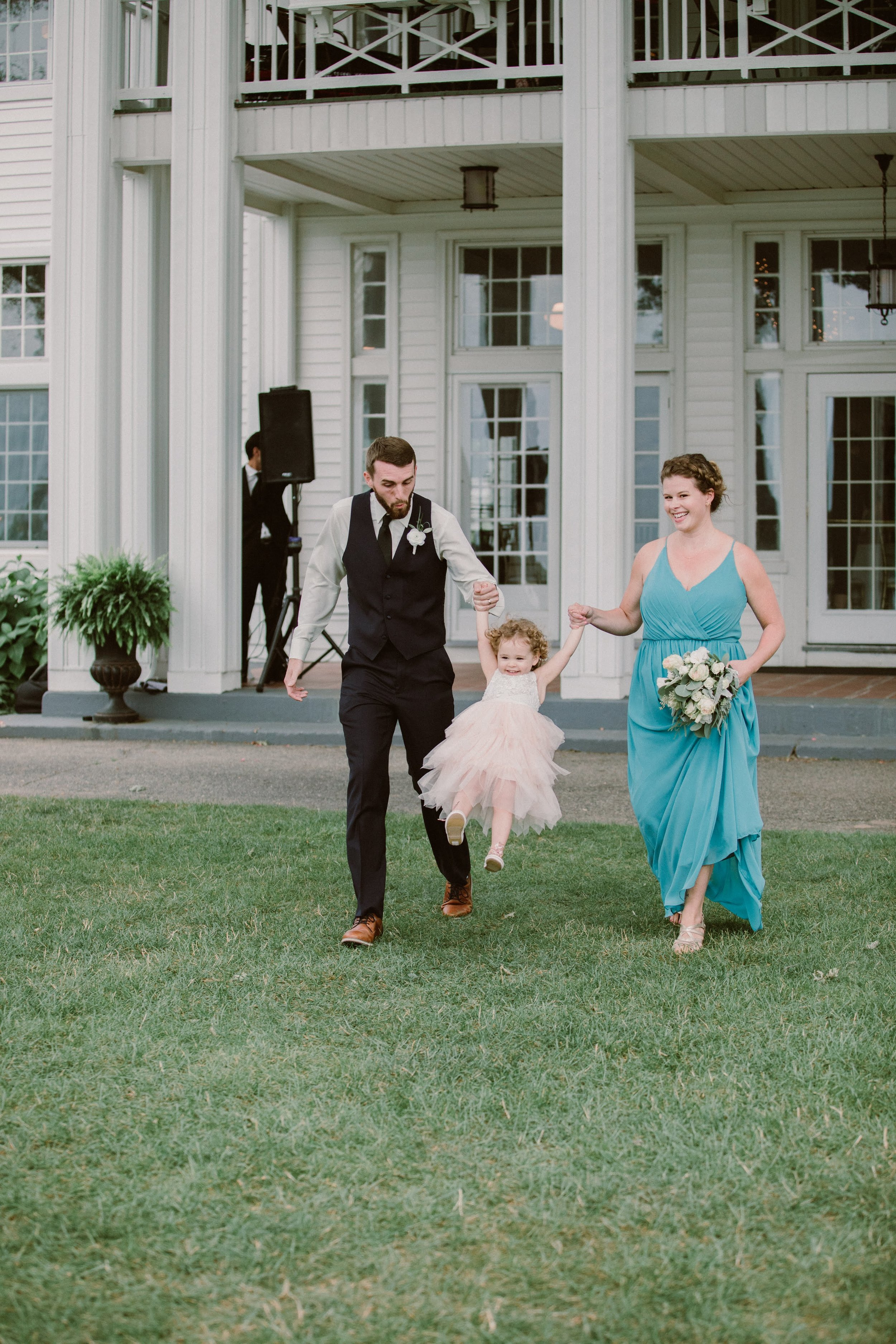 Swinging our way down the aisle!
