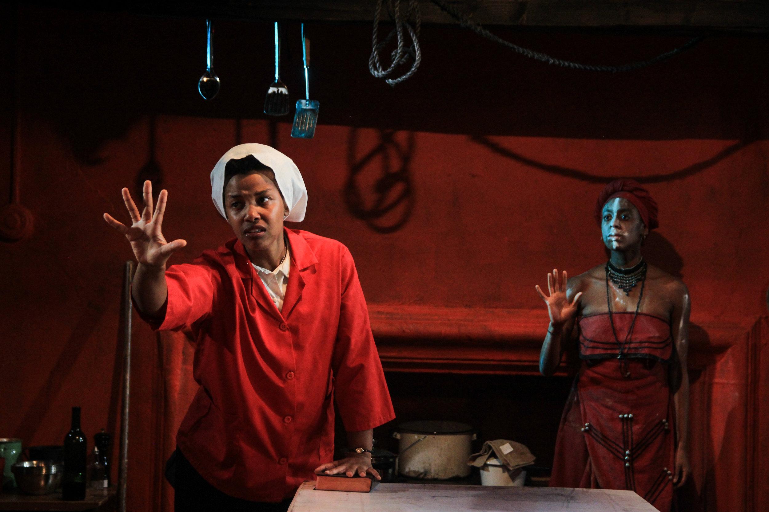 Kineta Kunutu as CHRISTINE, Amandla Jahava as UKHOKHO