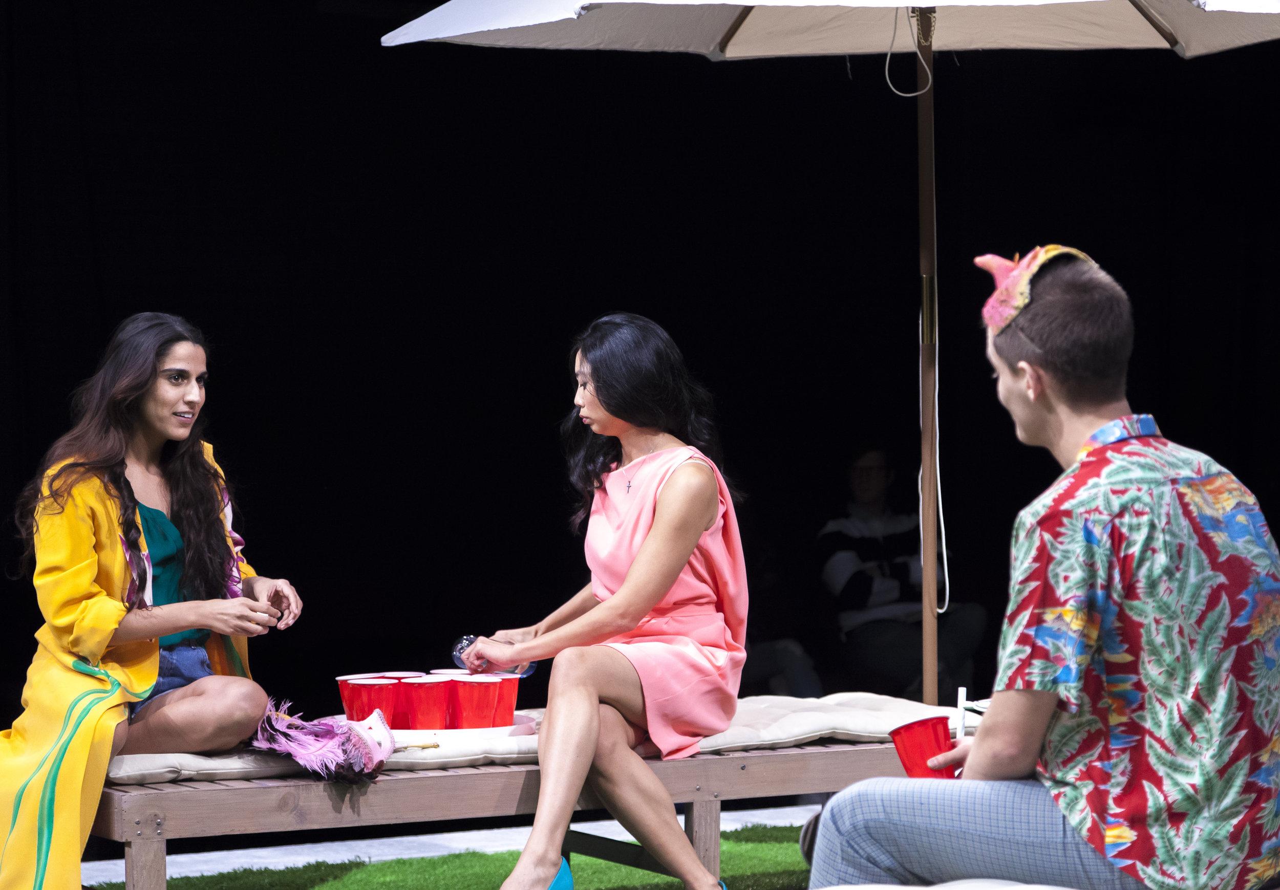 Sohina Sidhu as URSULA, Francesca Fernandez McKenzie as HERO, José Espinosa as LEONATO
