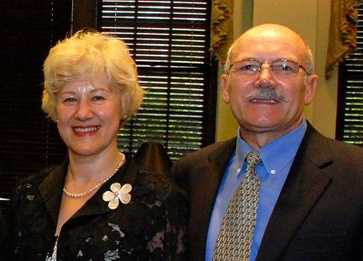 Dr. Olga Polykovskaya Lutsenko, founder and President of the Kindness Foundation and her husband, Rev. Fred Lutsenko, Vice President.
