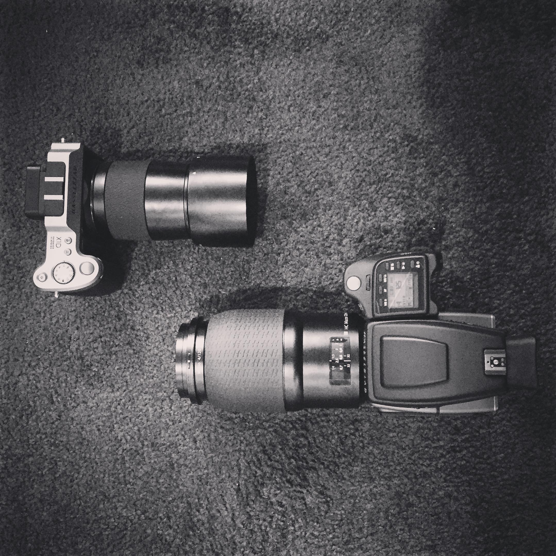 Top: Hasselblad X1D, Bottom: Hasselblad H6D-100C