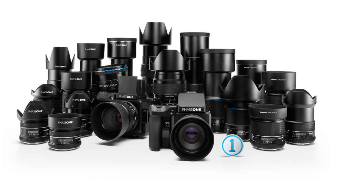 The wide range of lenses available for the Phase One XF camera system