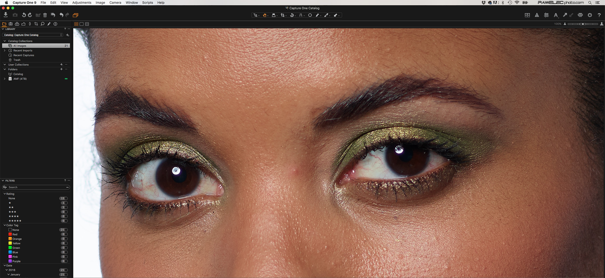 Unedited Phase One 100MP file from the XF in Capture One Pro at 100% magnification! Amazing detail the eyes and skin texture!