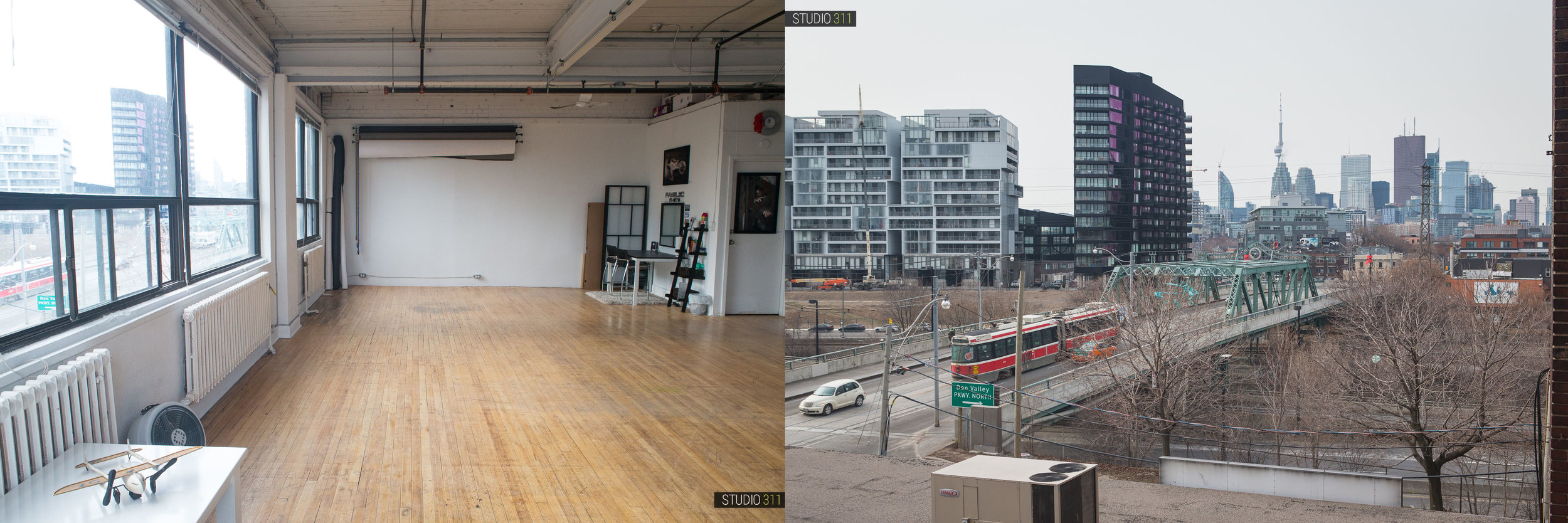 Nothing beats this hard-loft look, south-facing windows, and views of downtown Toronto from Studio 311!