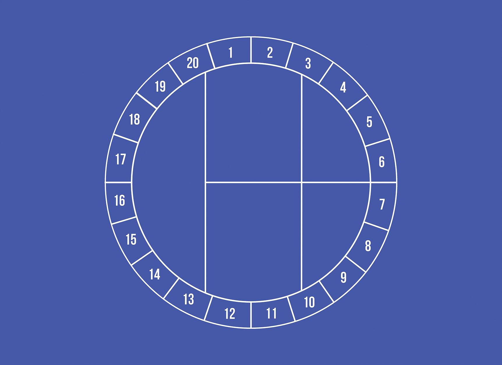 Antonin Gerson , Le Cercle , Série :  La modénature du rond-point , 2016 Sérigraphie encre bleue, 70x50cm,