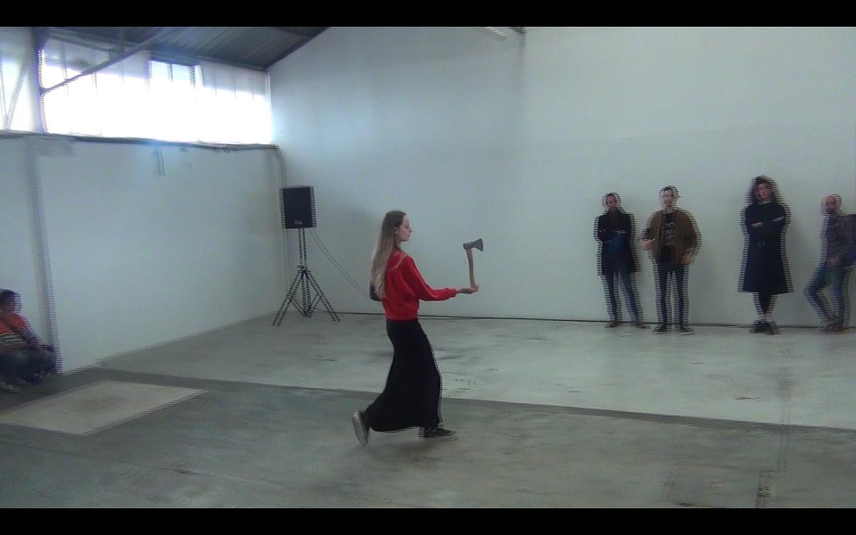 Camille Coléon,  Octave ,festival Performance, 2015, Ateliers Millefeuilles, Nantes, France