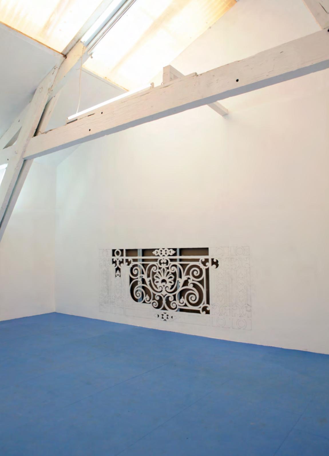 Quelque chose dont j'ai eu conscience, mais que j'ai oublié depuis , 2017, Artist Run Space Mutatio, Ateliers Aimé Delru, Nantes, 200x95cm