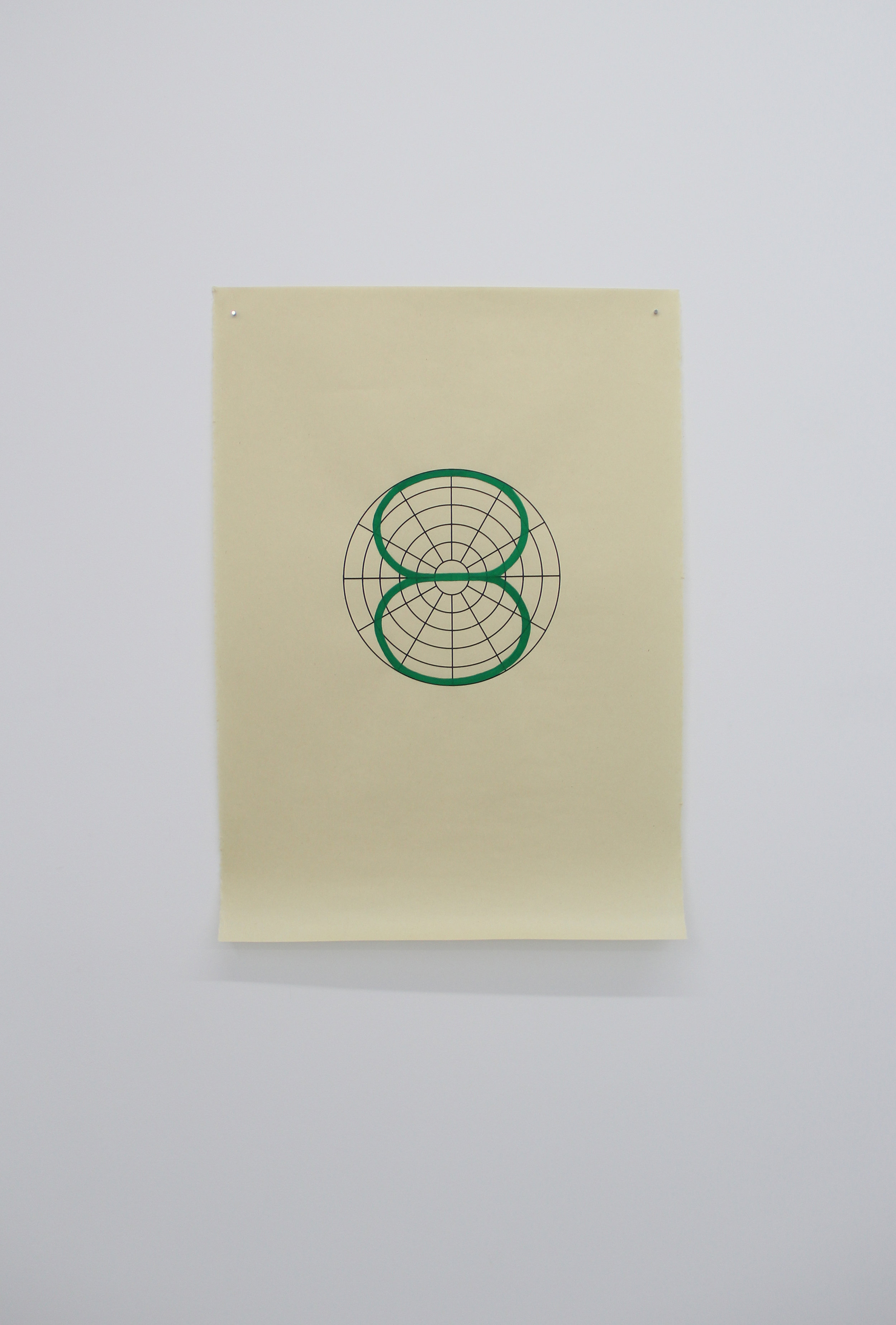 Antonin Gerson,  Vert - Bi-directionnel,   sérigraphie, gouache, 58x84cm 2018