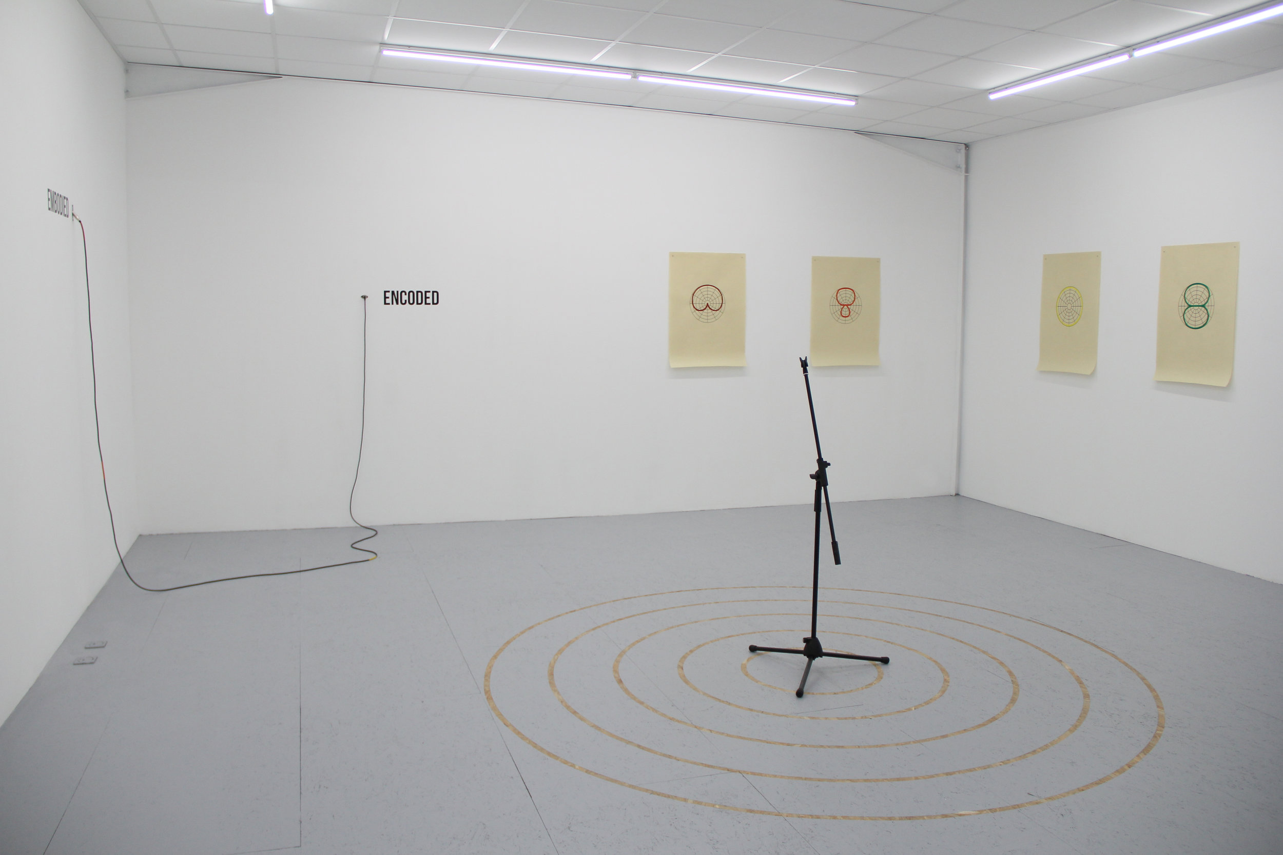Vue de l'exposition :  Bruit Blanc,  Antonin Gerson, Galerie Marchepied