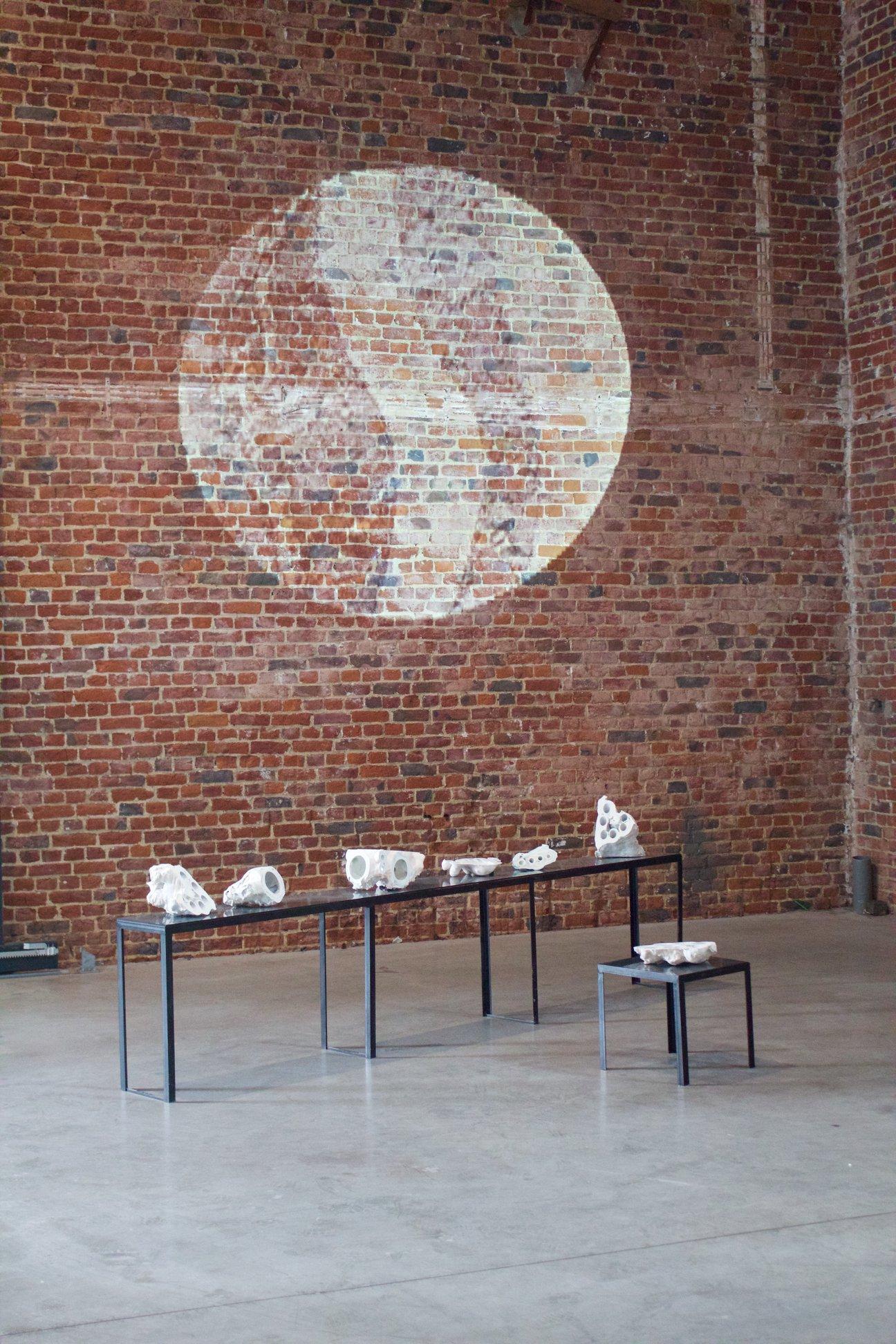Exhibition view :  Love & Ath,  Camille Coléon, Prix d'excellence de la ville de Bruxelles, 2018, Académie Royale des Beaux Arts de Bruxelles