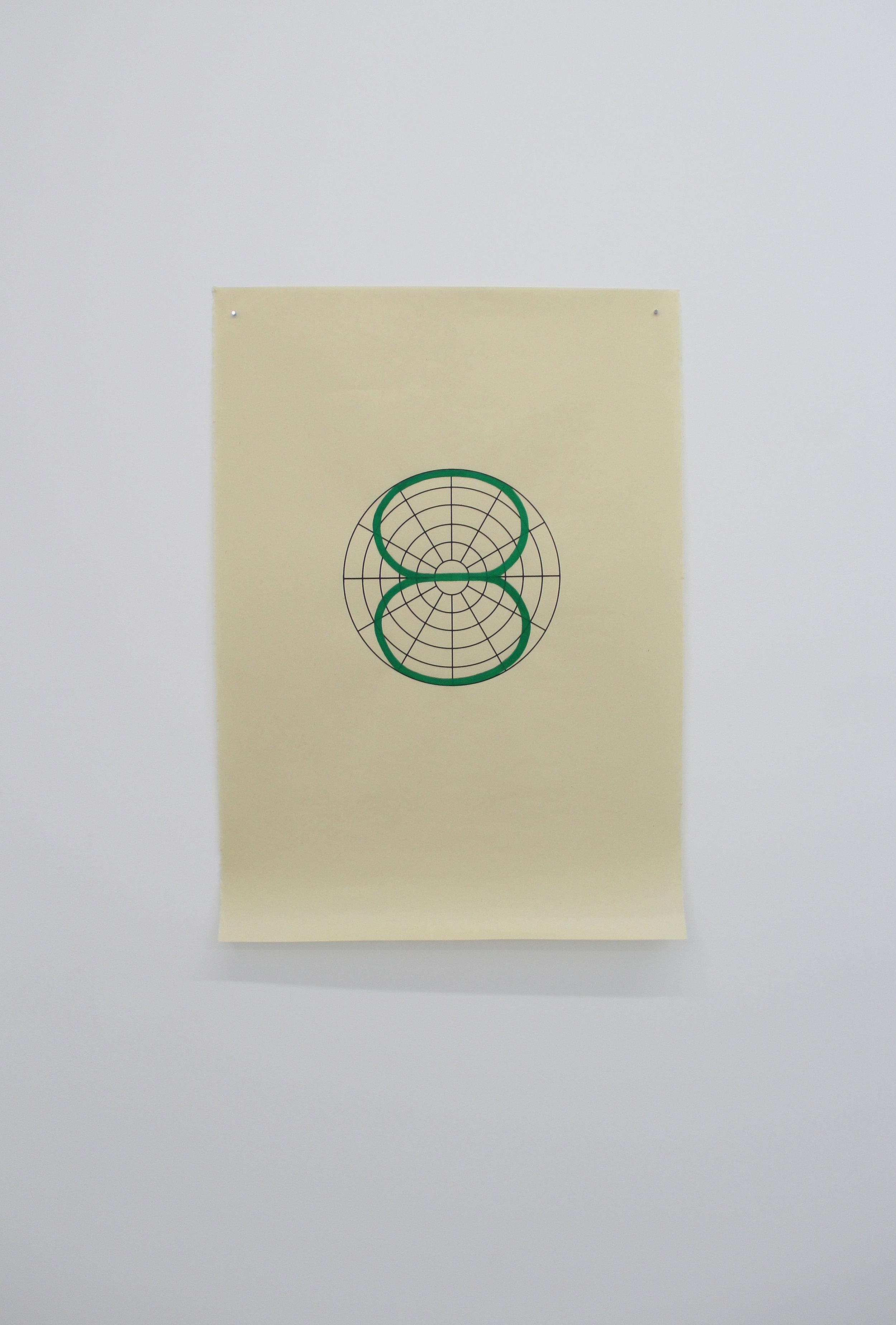 Antonin Gerson,  Vert - Bi-Directionnel , Sérigraphie, gouache, 58x84cm, 2018