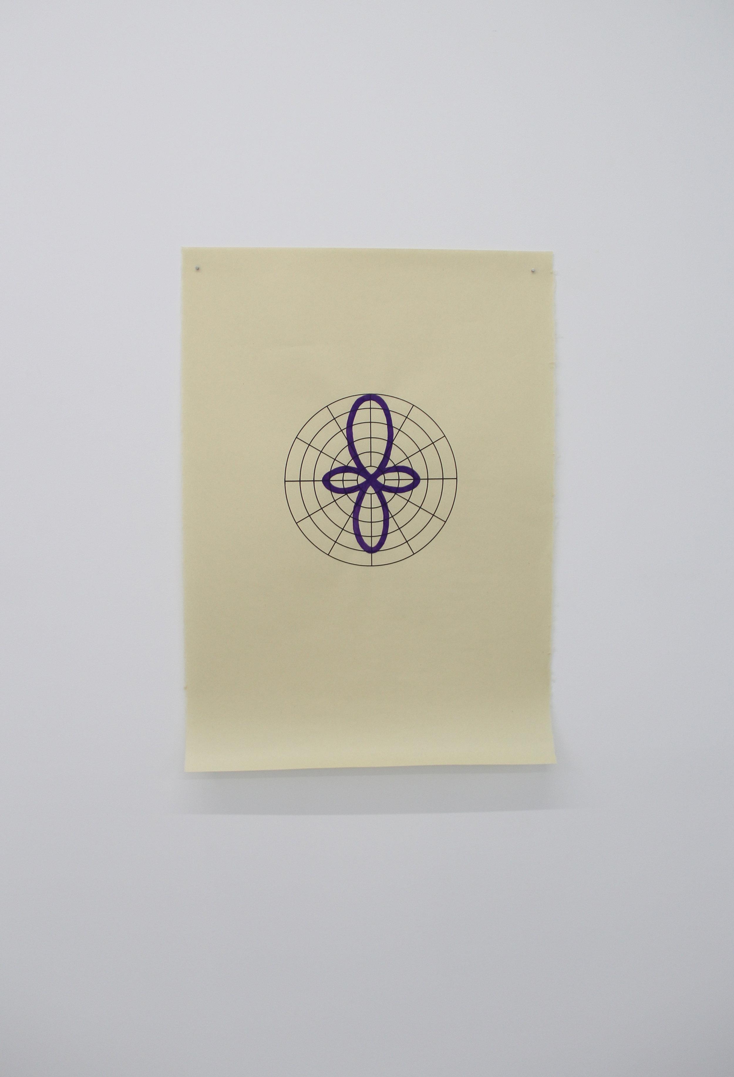 Antonin Gerson,  Violet - Canon,  Sérigraphie, gouache, 58x84cm, 2018