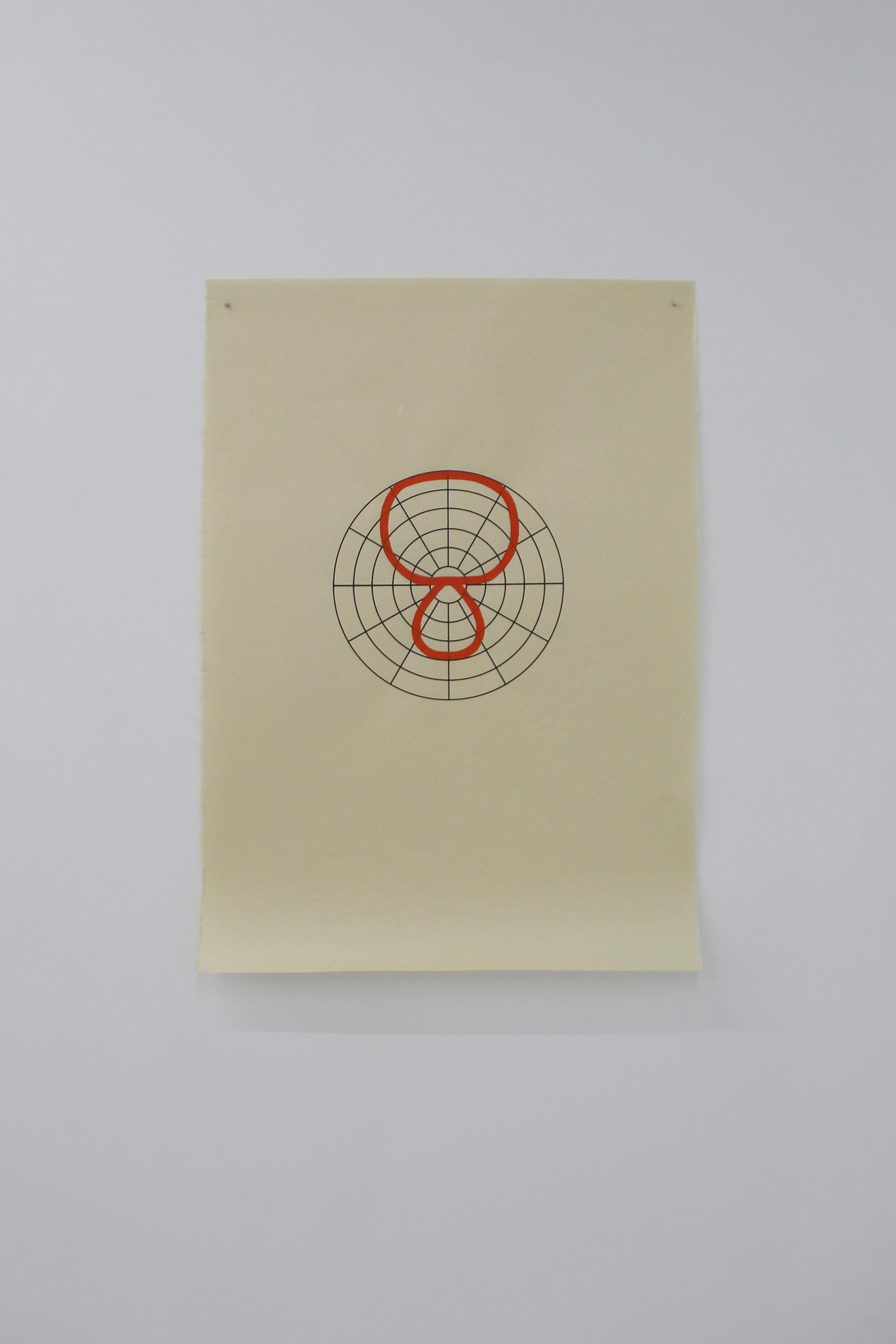 Antonin Gerson,  Orange - Hypercardioïde,  Sérigraphie, gouache, 58x84cm, 2018