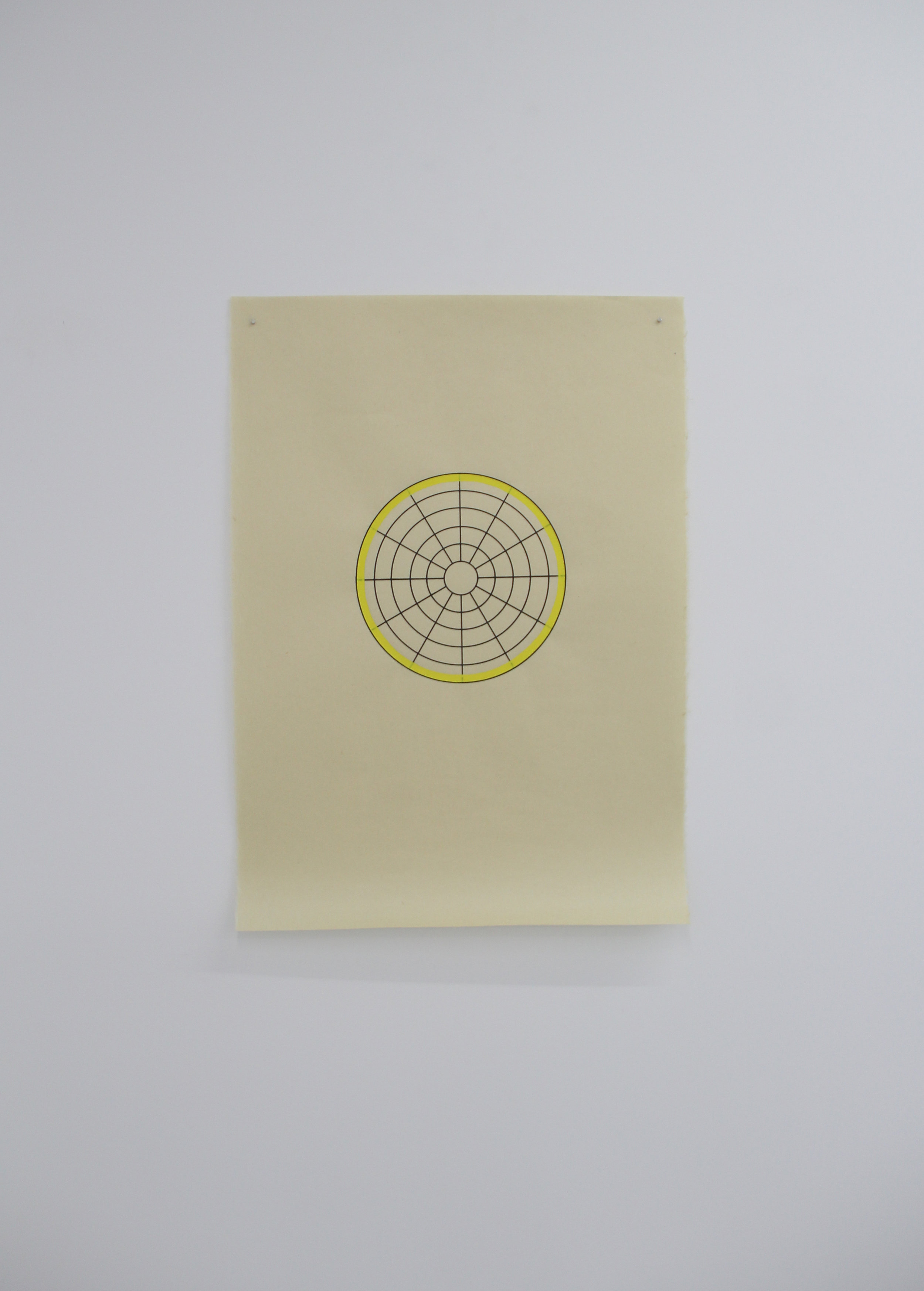 Antonin Gerson,  Jaune - Omnidirectionnel,  Sérigraphie, gouache, 58x84cm, 2018