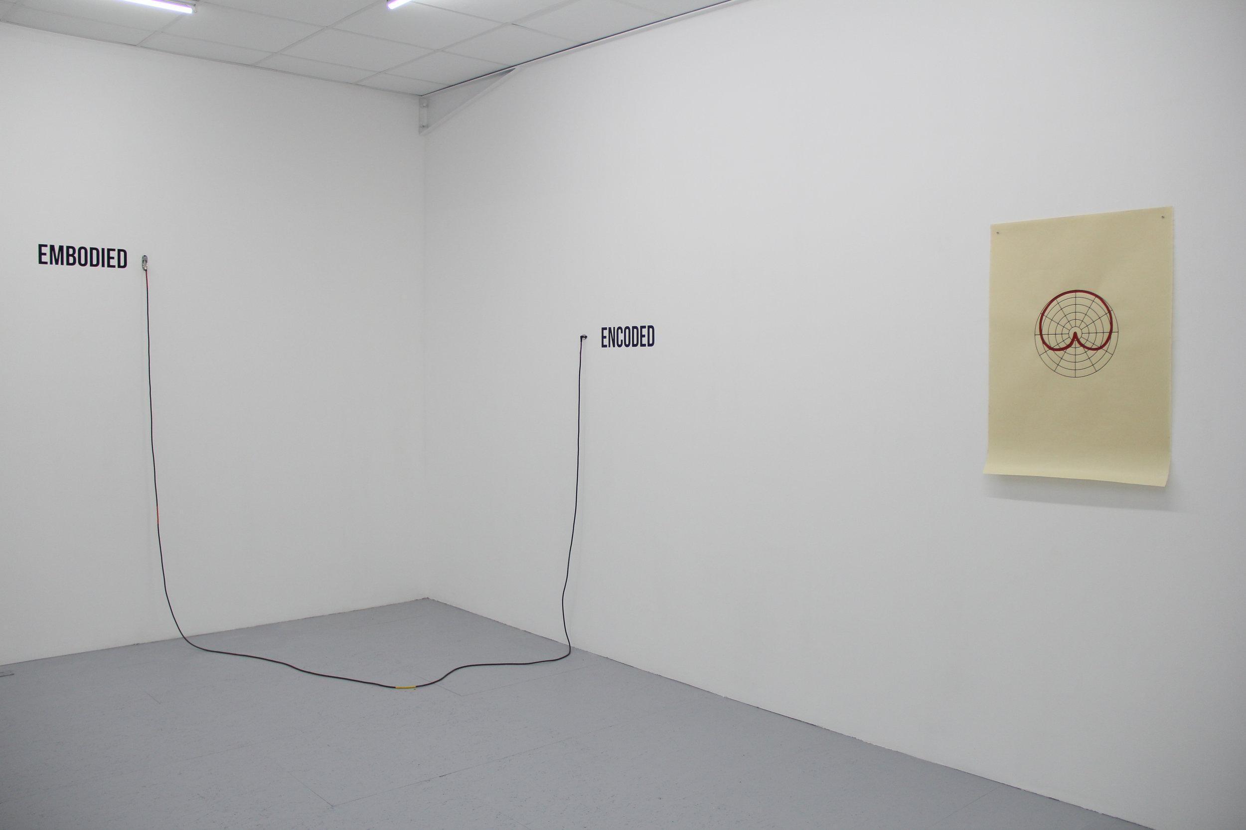 Exhibition view : Antonin Gerson,  Bruit Blanc,  Galerie Marchepied, summer 2018
