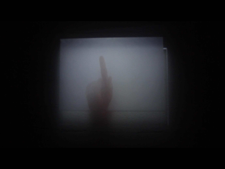 Léa Viretto,  (sans-titre) , vidéo projection sur plexiglass, dimensions variables, durée 3', 2018